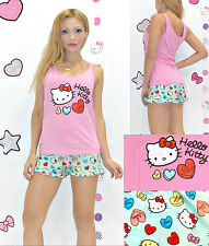 NWT Sanrio Hello Kitty 'Candy Hearts' Top and Shorts Pajama Set L
