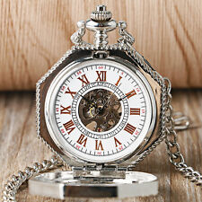 Classic Steampunk Hollow Mechanical Octagon Pocket Watch Hand-winding Xmas Gift