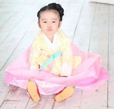 Girl Hanbok Korean traditional Dress Korea Baby 1st birthday Party Yellow Pink