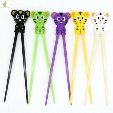 Cute 1 pairs Tiger Kids training Helper Learning Fun Gift Toy Chopstick@+++