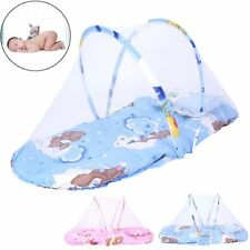 Portable Foldable Baby Kids Cotton Padded Mattress Pillow Bed Mosquito Net Tent