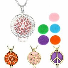 Essential Oil Diffuser Necklace Pendant Young Living Aromatherapy Locket Chain