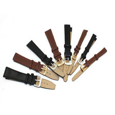 Watch Strap Genuine-Leather Replacement Repair Band Black/Brown Leather FWS