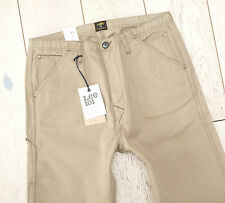 NEW LEE 101 WORK PANT CHINO 9.5oz SELVAGE TWILL DOUBLE DYE BEIGE SIZES