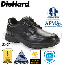 DieHard Safety Soft Toe Slip Resistant Work Shoe Oxford shoes Leather Light dh