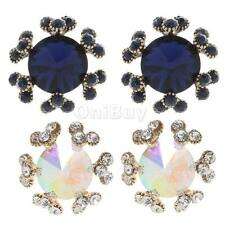Fashion Women Diamante Women Crystal Rhinestone Snowflake Ear Studs Earrings