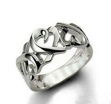 Sterling Silver Multi Hearts Women Fashion Ring in Gift Box Size 6-10