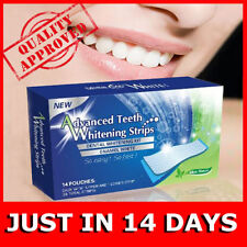 TEETH WHITENING STRIPS MINT FLAVOR 14 POUCHES 28 STRIPS