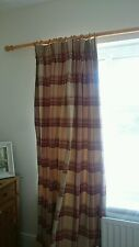 Laura Ashley Red & Natural Highland Check Lined Curtains 31 x 90