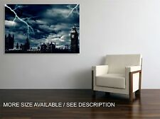 Canvas Print Picture LONDON Night Stormy Clouds / Stretched - ready to hang