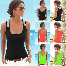 Summer Women Vest Sequined Sleeveless Blouse Tank Top Sportwear Joggings Shirt