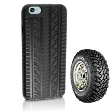 Rubber Tyre Silicone Soft Skin Cover Case for iPhone 4 5 c 6s Plus for Samsung