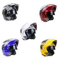 Double Lenses Motorcycle Helmet Motor Bike Full Face Anti-fog Safety Racing AT