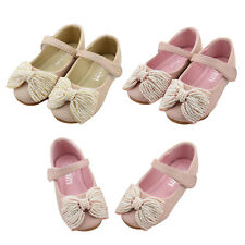 AU Sweet Kids Toddler Girls Children Shoes Bow-Knot Beads Princess Party Shoes