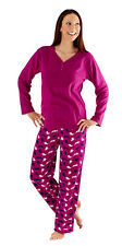 i-Smalls Women's Soft Warm Cosy Fleece Winter Animal Print Long Pyjama
