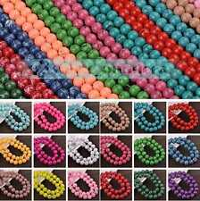 Lots Of Colors & Stripes 6/8/10mm Round Findings Crafts Glass Loose Spacer Beads
