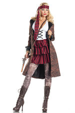Sexy Pirate Costume Dress Coat Scarf Halloween cosplay fantasy role play