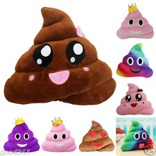 Emoji Plush Toy Throw Feces Funny Poo Shape Creative Cushion Soft Pillow Gift US