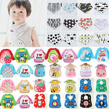 Baby Kid Toddler Infant Boys Girls Bibs Cartoon Waterproof Saliva Towel Feeding
