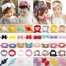Baby Toddler Kids Girls Rabbit Bowknot Turban Headband Hair Bands Headwrap Lot