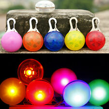Pet Cat dogs Puppy LED Flashing Dog Collar Safety Night Light Pendant