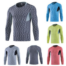 Men Sports Pro Underwear Compression Base Layer Tops Long Sleeve Athletic Shirts