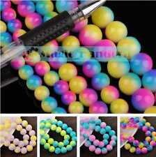 Two-color 8/10mm Round Faceted Crystal Jewelry Findings Glass Loose Spacer Beads