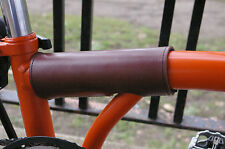 Short Leather Frame Protector for Brompton Bicycles