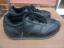 SFC SHOES FOR CREWS  LEATHER LADIES BLACK LACE UP WALKING SHOES, SIZE 8 M
