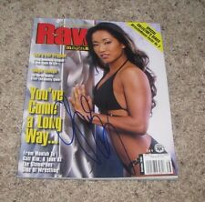 GAIL KIM Signed WWE WWF Raw Wrestling Magazine TNA Knockout Diva