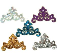 5 Colors Iron or Sew On Sequin Applique Motif #79 Tutu Dance Stage Costume Trim
