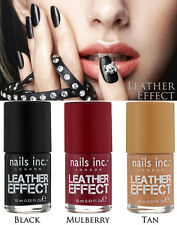 ***NEW NAILS INC.LONDON 'LEATHER EFFECT' TEXTURED 3D MATTE NAIL POLISH !!!