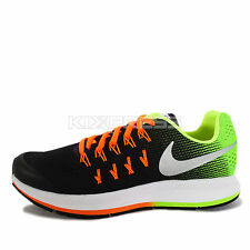 Nike Zoom Pegasus 33 GS [834316-004] Running Black/Silver-Volt-Orange