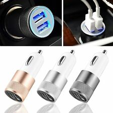 Bullet Car Charger Adaptor Dual USB 2 Port For iPod iPhone 4 5 C S Samsung HTC