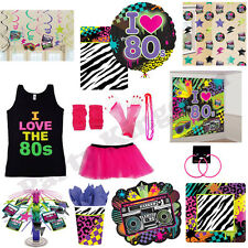 TOTALLY 80S 1980S PARTY DECORATIONS FANCY DRESS BIRTHDAY HEN NIGHT LOT