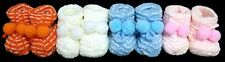 Newborn Size Knitted Booties Assorted Colors Baby Goods 12 Pairs Lot (E00205)