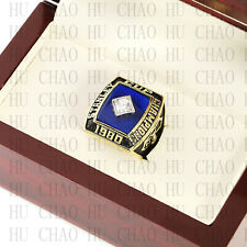 1980 NEW YORK ISLANDERS Stanley Cup Championship Ring with Team Logo Wooden box