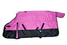 600D Waterproof Turnout MEDIUM WEIGHT HORSE WINTER BLANKET-PINK