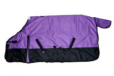 600D Waterproof Turnout MEDIUM WEIGHT HORSE WINTER BLANKET-PURPLE
