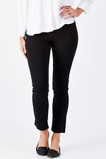 NEW bird keepers Womens Pants The Straight Leg Ponte Pant Black