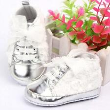 0-12M Baby Girl Kids Shoes Soft Bottom Rose Flower Lace Prewalker Toddler Shoes