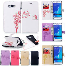 New Flip Strap Flower Pattern Leather Card Wallet Stand Case For Various Phone