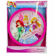 BRAND NEW OFFICIAL LICENSED DISNEY PRINCESS'S CHILDREN'S WALL CLOCK BRAND NEW