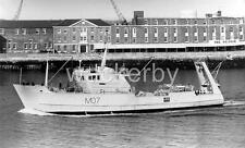 "HMS ST DAVID (M07) 1978 Minesweeper 12"" x 8"" Quality B/W Photo. passing DOLPHIN"