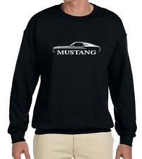 1967 1968 Ford Mustang Fastback Classic Outline Design Sweatshirt NEW