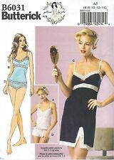 Butterick 6031 Misses' Camisole, Slip and Panties 6 to 14    Sewing Pattern