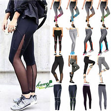 Womens Yoga Fitness Leggings Running Gym Stretched Sports Pants Trousers Jogger