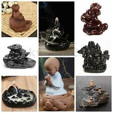 8 Types Ceramic Backflow Glaze Lotus Incense Burner Censer Holder With Cones