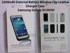 3200mAh External Battery Flip Charger Case Stand For Samsung Galaxy S4 i9500