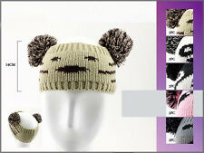 Knitted Headbands/Head Wraps With Pom Pom - Adults 6 Pc Lot (HB2005 ^ )